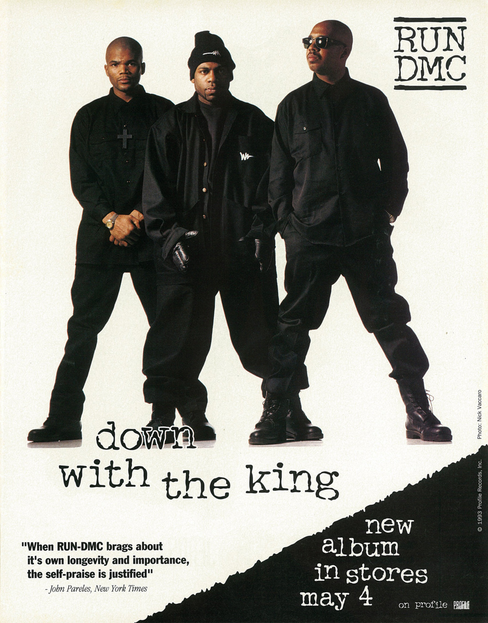 Run DMC Down With The King Advertisement 1993