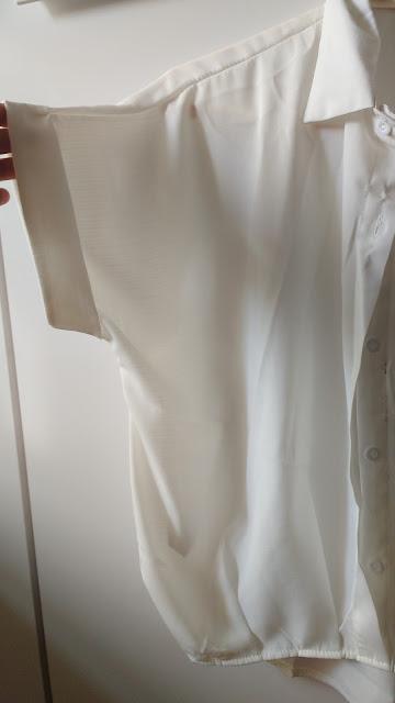 Recebidos Loja Rosegal, blusa branca, detalhe mangas