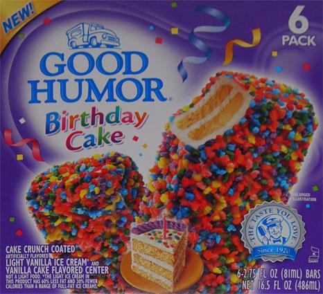 Good Humor Birthday Cake Ice Cream Bars