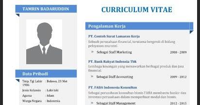 Format Curriculum Vitae Yang Menarik Free Online Resume Format