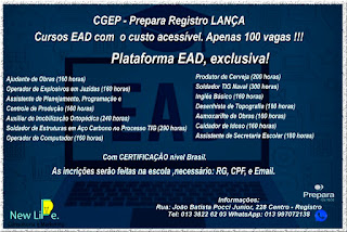 CGEP - Prepara Registro-SP lança Cursos EAD com custo acessível - 100 vagas