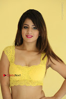 Cute Telugu Actress Shunaya Solanki High Definition Spicy Pos in Yellow Top and Skirt  0145.JPG