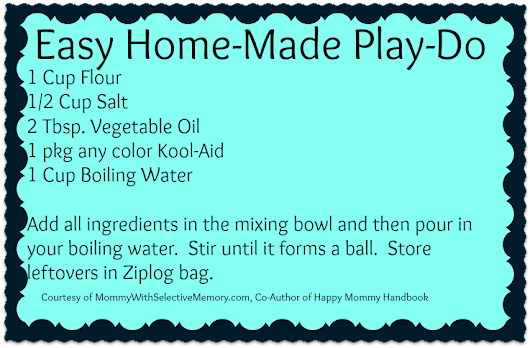Preschool Activity Ideas | Toddler Activity Ideas | Mommy With Selective Memory: Easy Home-Made Play-Do Recipe