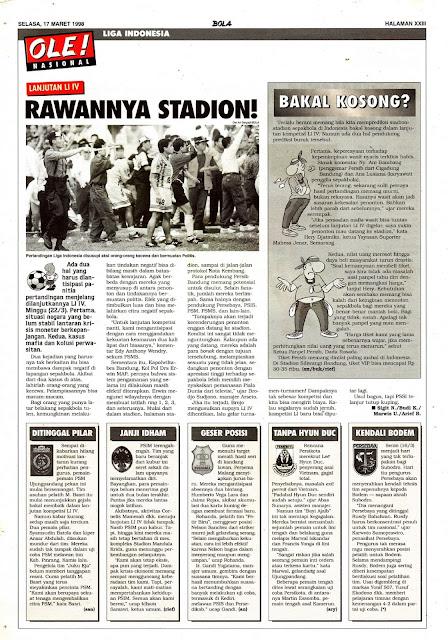 LANJUTAN LIGA INDONESIA IV RAWANNYA STADION