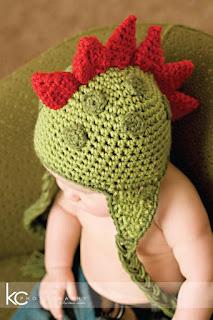 Crochet Baby Hat PATTERN Dinosaur Hat