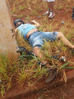 Motociclista morre em colisão fatal contra poste próximo a Ibiporã