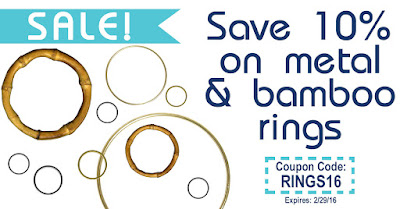 Macrame rings at discounted rate at MacrameSuperStore.com