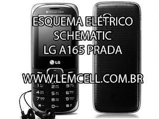 Esquema Elétrico Celular LG A165 Manual de Serviço  Service Manual schematic Diagram Cell Phone Smartphone Celular LG KE850 Prada