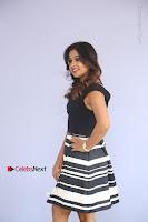 Actress Mi Rathod Pos Black Short Dress at Howrah Bridge Movie Press Meet  0097.JPG