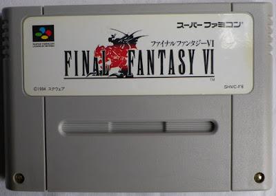 Final Fantasy VI (Jap) - Cartucho delante