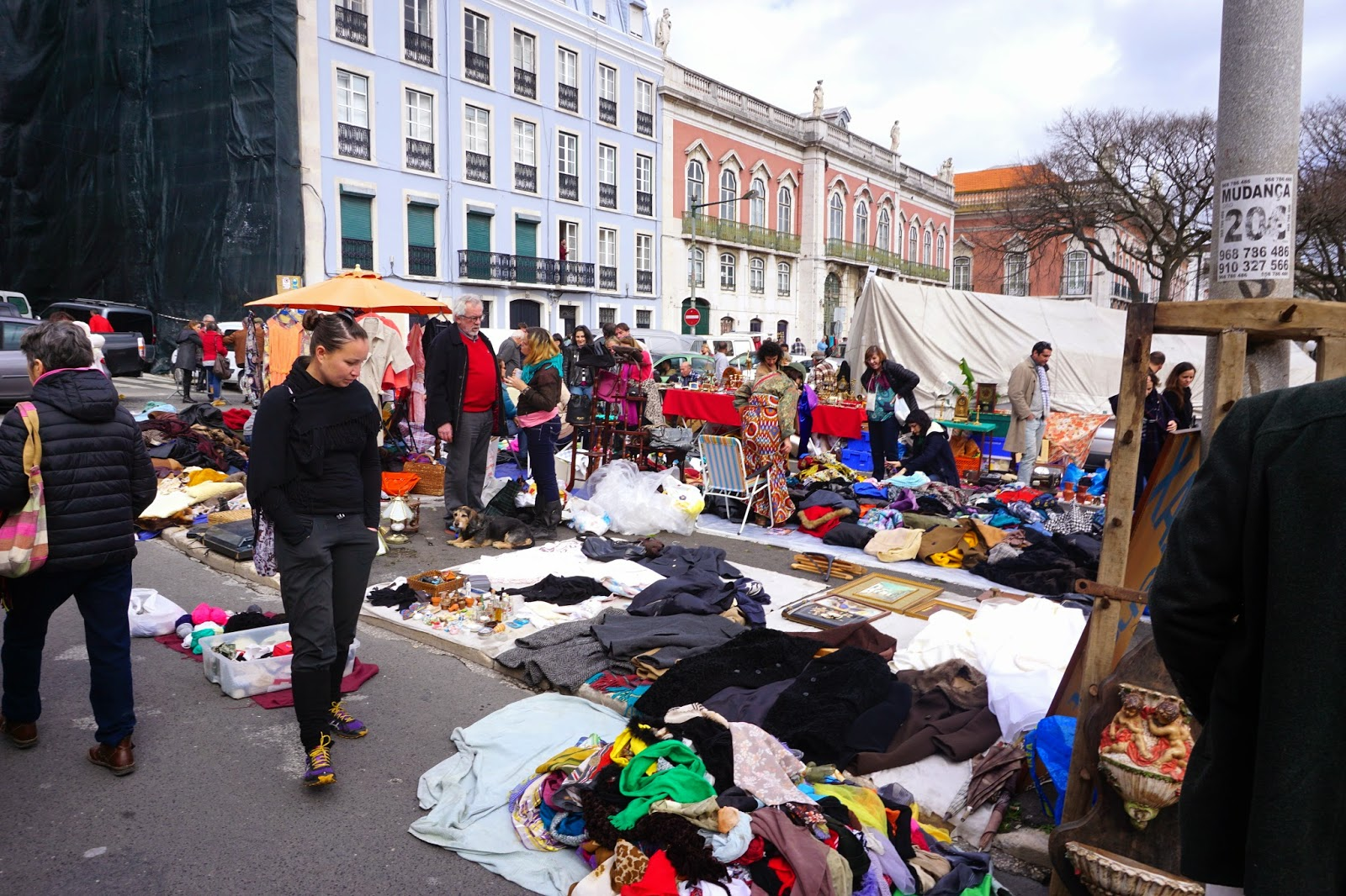 Lisbon flea market Campo de Santa Clara on a Saturday morning