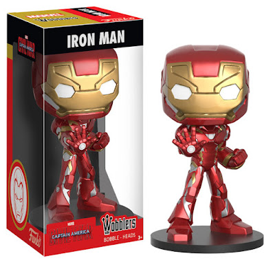 Captain America Civil War Wobblers Marvel Bobble Heads by Funko – Captain America & Iron Man
