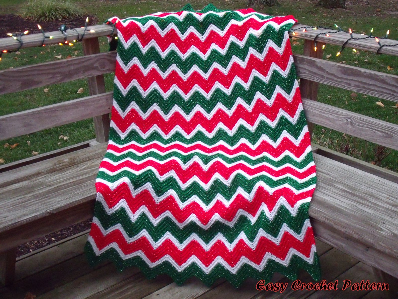 Easy Crochet Pattern Crocheted Christmas Afghans And Tree Skirt