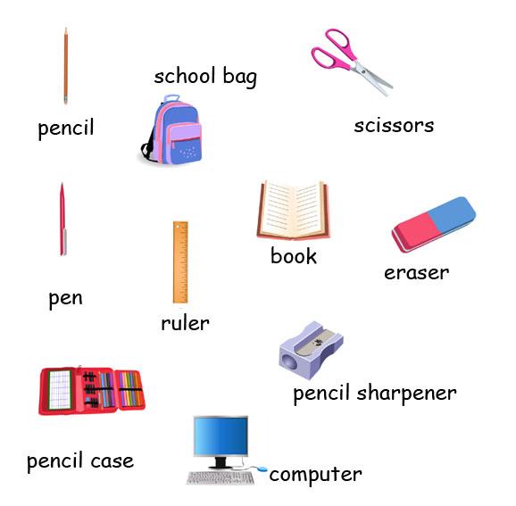 Materi Bahasa Inggris Sd Kelas 4 Tentang School Objects Benda Benda Sekolah
