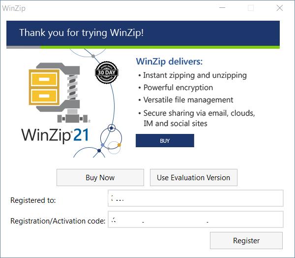 WinZip 21 Key