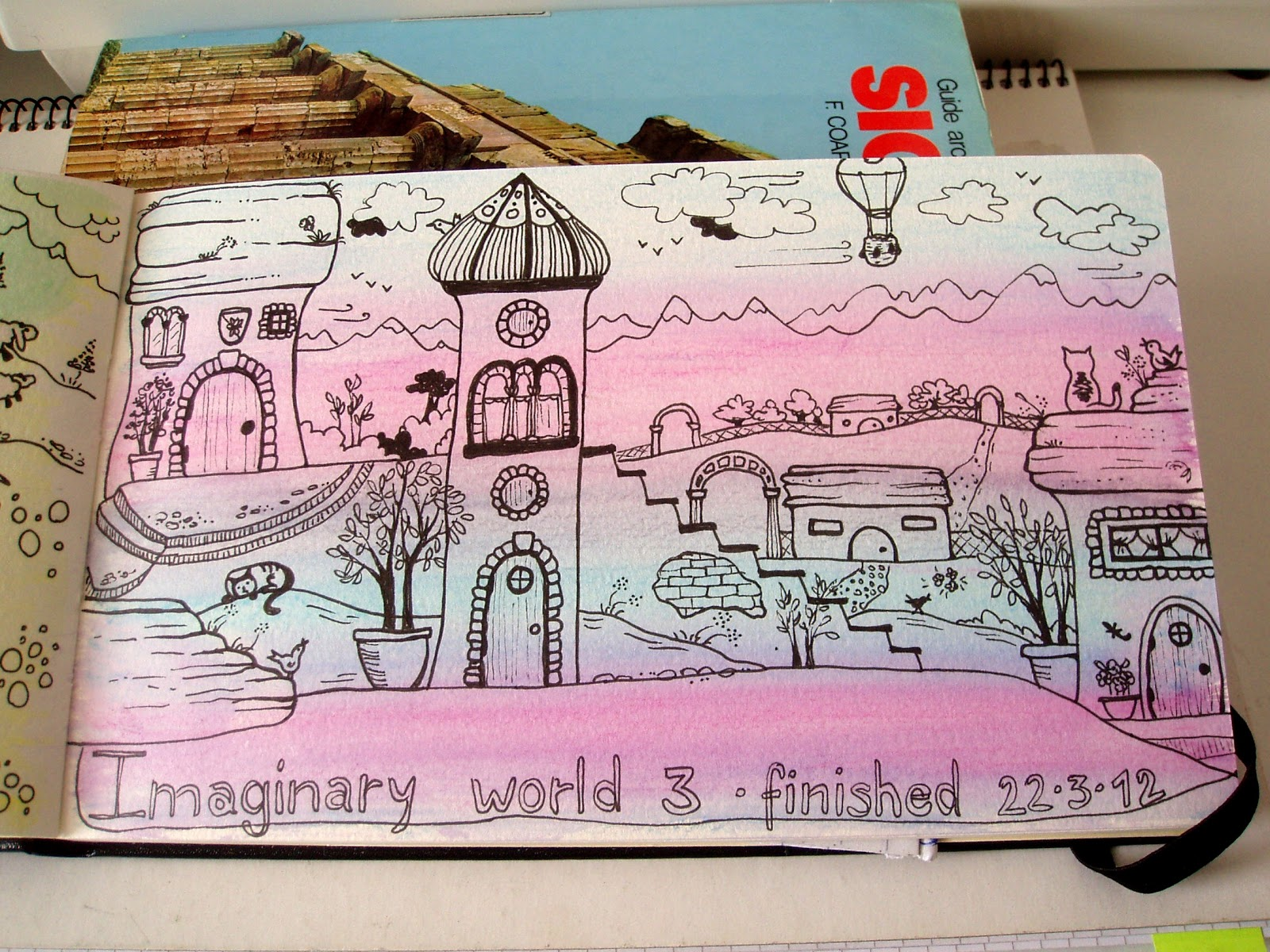 It's just a graphic of Satisfactory Drawing Imaginary World