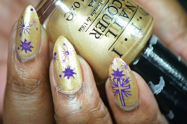 Gold & Purple Stamping