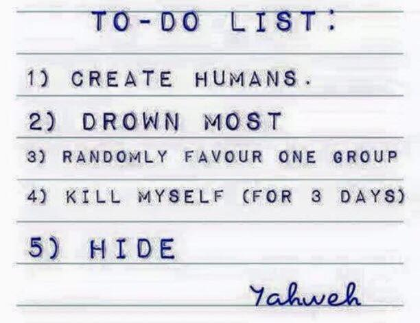 God's To-Do List Funny Religious Meme Picture