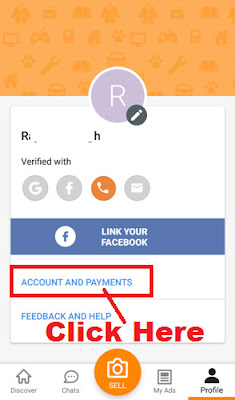 change olx account login password through olx app