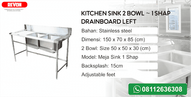 Harga Kitchen Sink Stainless Steel Murah