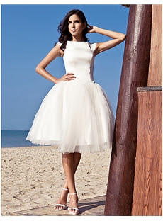 Alt+Chic & Modern/Glamorous & Dramatic/Reception Ball Gown Knee-length Wedding Dress (11341132)
