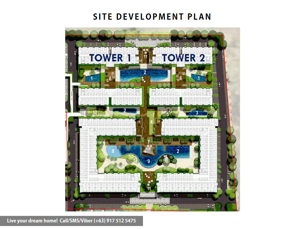 Site Development Plan | SMDC Shore 3 Residences - 2 Bedroom With Balcony | Condominium for Sale SM Mall of Asia Pasay