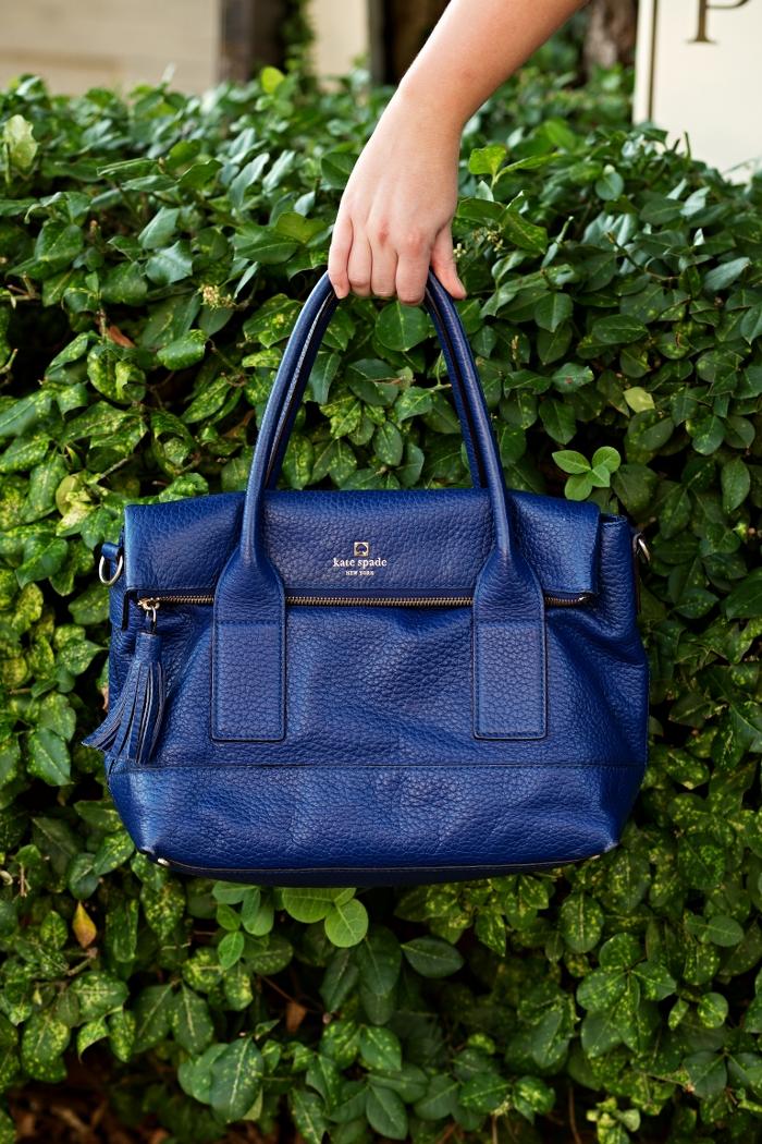 Kate Spade Cobalt Pebble Leather Bag