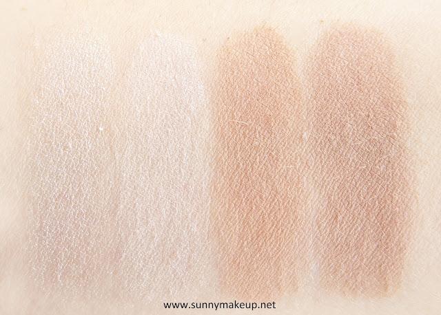 Swatch Pupa - Contouring & Strobing #READY4SELFIE. Palette viso nella colorazione 001 Light Skin.