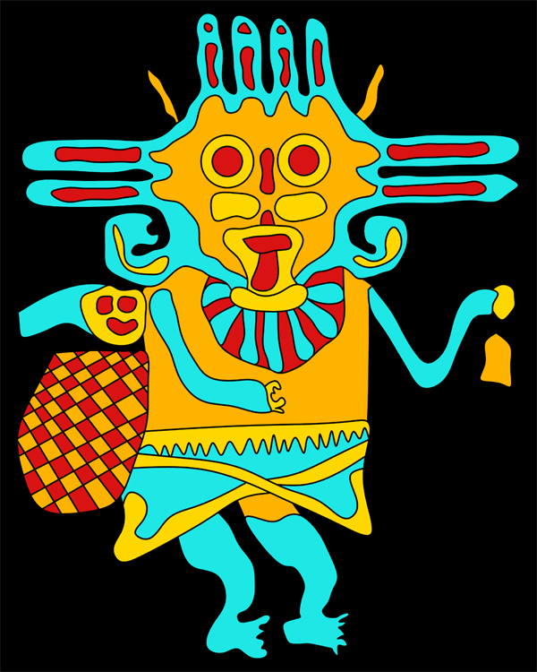 Paracas culture, Paracas figures, Paracas textile, history of textiles, paracas crafts, paracas illustration, andean art, paracas art