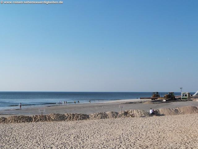 Strand auf Sylt nach der Sandaufspülung in Westerland
