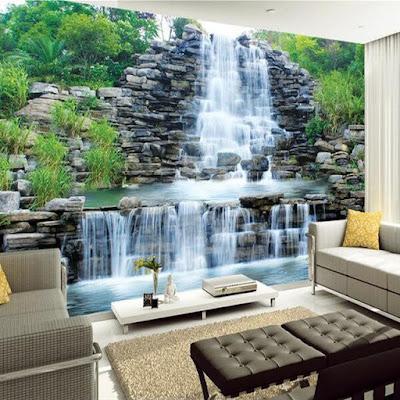 natur tapet landskap fototapet vattenfall vardagsrums tapet