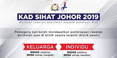 Permohonan Kad Sihat Johor 2019 Online (Borang)