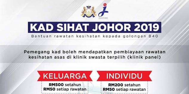 Permohonan Kad Sihat Johor 2021 Online (Borang)