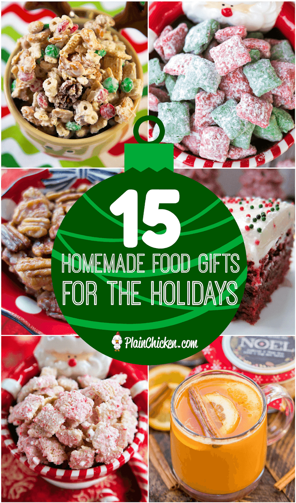 15 Homemade Food Gifts for the Holidays -homemade gifts are the BEST gifts! Here are 15 ideas for easy homemade holiday gifts - perfect for teachers, co-workers and friends!! Something for everyone! #homemade #handmadechristmas #christmas