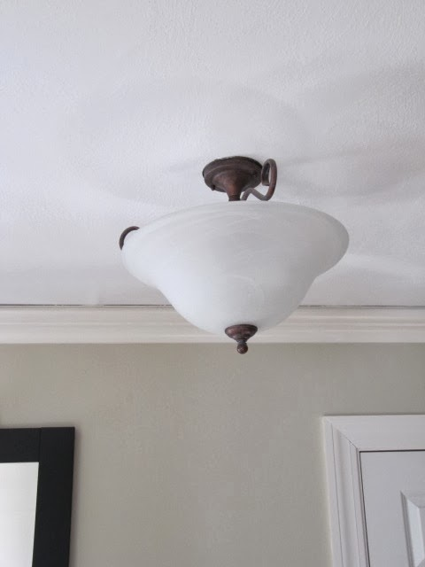 Sew Many Ways...: Painting Old Light FixturesBefore and After
