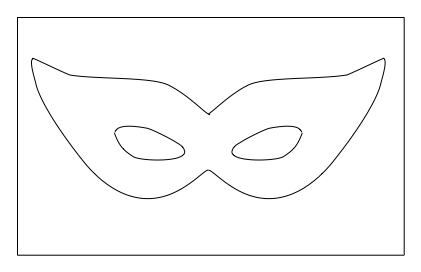 Versatile image within masquerade mask template printable