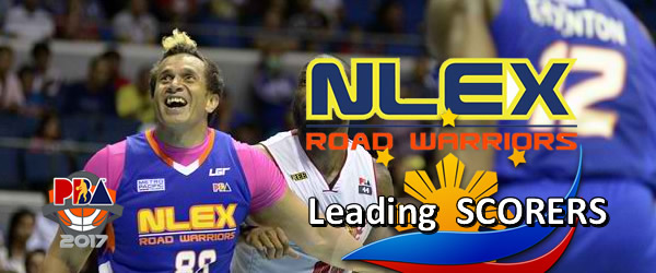 List of Leading Scorers: NLEX Road Warriors 2016-2017 PBA Philippine Cup