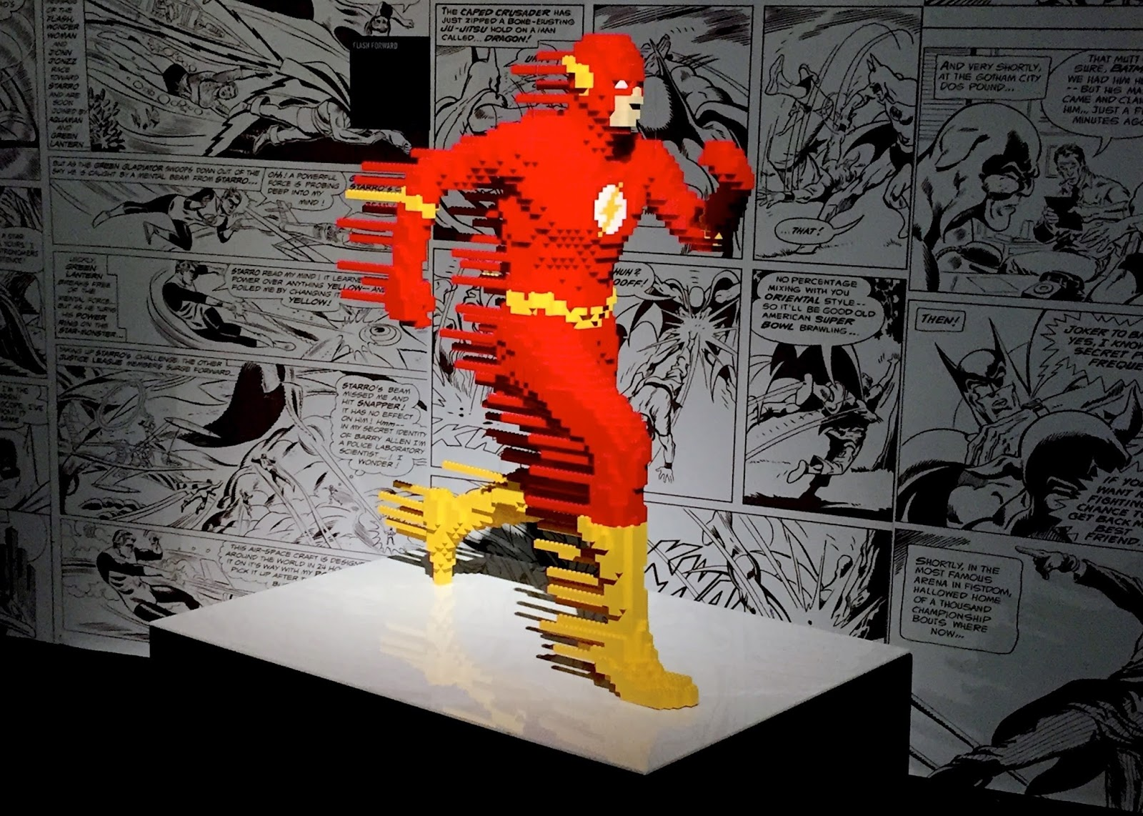 The Flash LEGO Sculpture