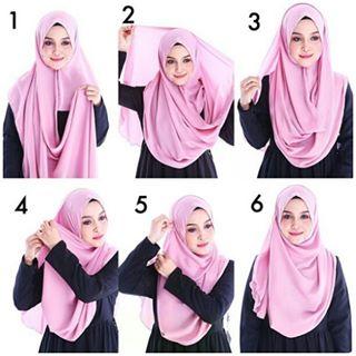 tutorial hijab instan