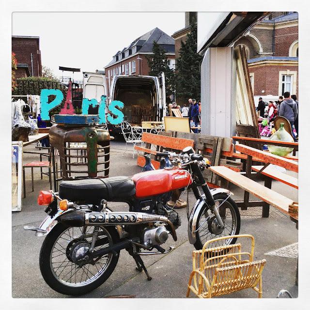 Moto Honda / Brocante d'Amiens, avril 2016 / Photos Atelier rue verte /