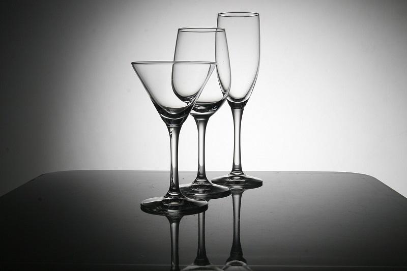 Etched Wine Glassware