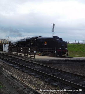 Steam locomotive at Quorn and Woodhouse station