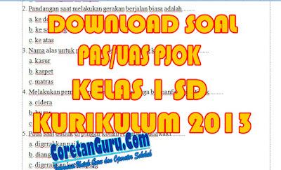 Download Soal PAS PJOK Kelas 1 SD Kurikulum 2013 Semester 1 Terbaru