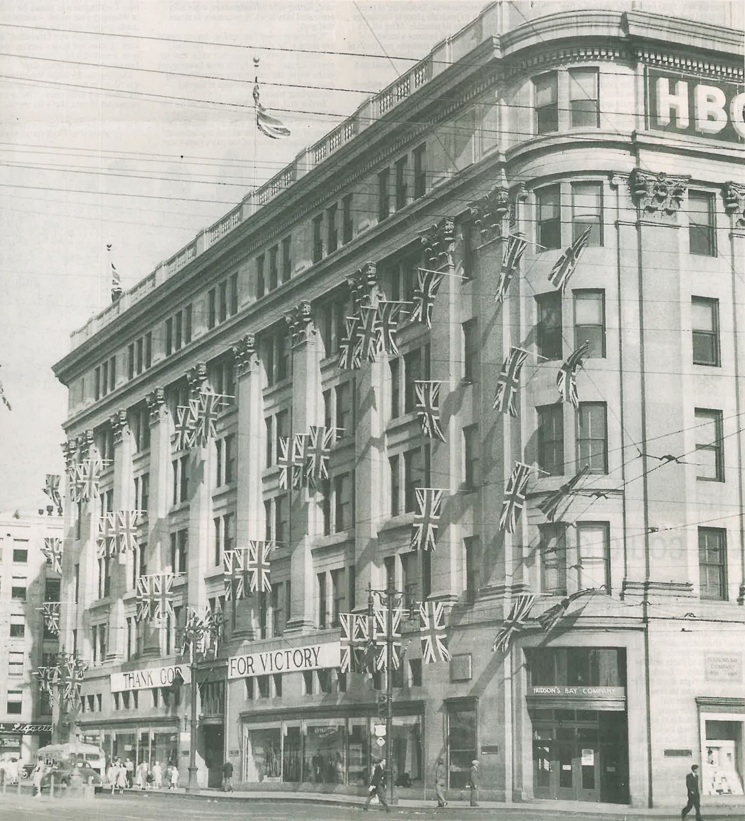 The official blog of the hudsons bay company celebrating the downtown winnipeg hudsons bay store celebrates the end of wwii image courtesy of the winnipeg free press buycottarizona Choice Image