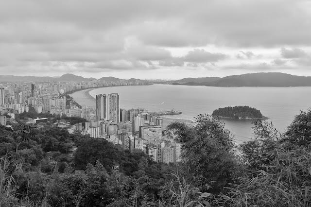 São Vicente e Santos vistas do alto