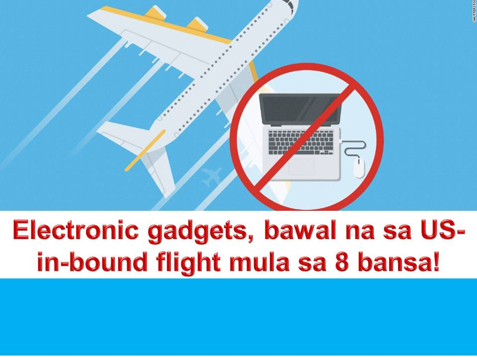 After banning travelers from seven Muslim-majority countries, the government of the United States is now banning electronic devices from cabin baggage on flights from eight Middle Eastern and North African Countries.  A source told the BBC news that the new measure would affect nine airlines operating in 10 airports.  The new ban is imposed as a response to an unspecified terrorist threat to the US according to the US officials.