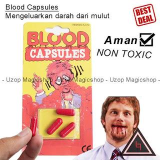 Jual alat sulap Blood Capsules darah kelur dari mulut