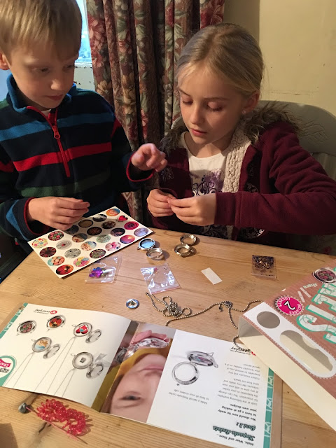 Children playing withMyStyle Craft Make Keepsake Lockets from Interplay