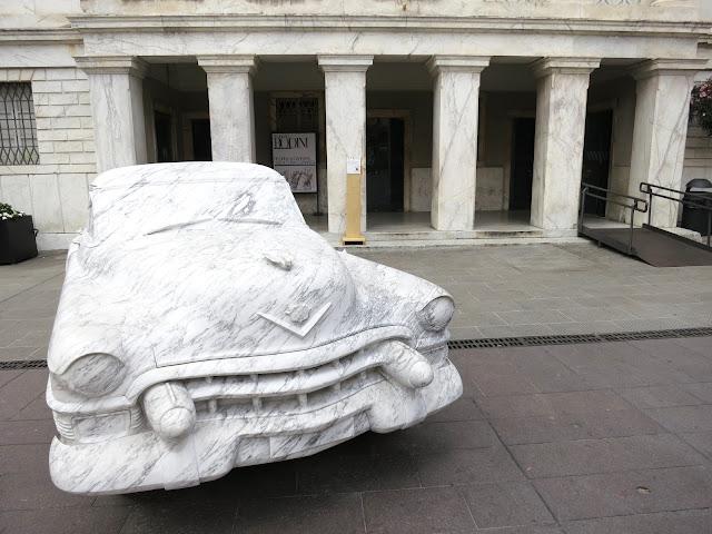 Pop Art 1952 Cadillac Coupe de Ville MarbleCar in Carrara Italy