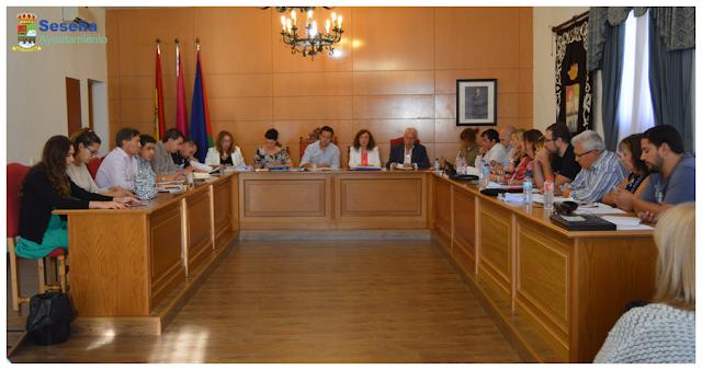 Un momento del pleno de Seseña, imagen Facebook ayuntamiento de Seseña